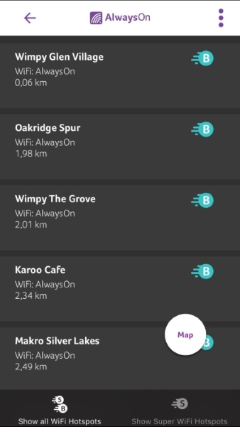 Wifi App | Find WiFi Hotspots and Buy Data | AlwaysOn