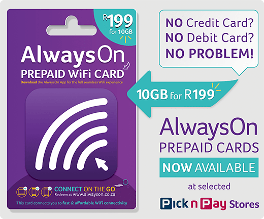 AlwaysOn prepaid WIFI cards